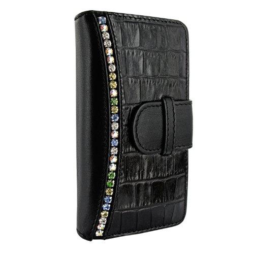 Special Sale Apple iPhone 5 / 5S Piel Frama Black Swarovski Crocodile Leather Wallet