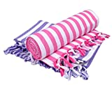 Sathya Supreme Turkish Cotton Bath Towel-2pcs Combo (Lavender, Pink)(30*60)