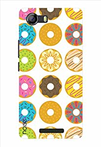 Noise Cartoon Donuts Printed Cover for Micromax Canvas Spark 2 Q334