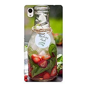 Cute Strawberry and Basil Multicolor Back Case Cover for Sony Xperia M4