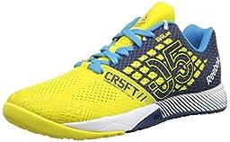 Reebok Crossfit Nano 5.0 Training Shoe (Little Kid/Big Kid), Stinger Yellow/Batik Blue/California Blue/White, 6.5 M US Big Kid