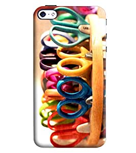 Blue Throat Scissors Printed Designer Back Cover/Case For Apple iPhone 4