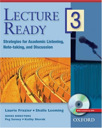 Lecture Ready 3 Student Book with DVD: Strategies for...