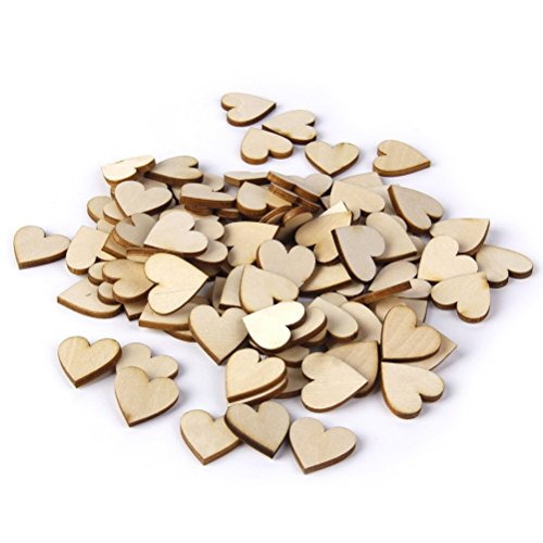 Pixnor-100pcs-20mm-Wood-Slices-Tree-Log-Discs-Rustic-Wedding-Ornaments
