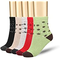 5-Pack Bemastar New Style Lady's Warm Thicken Rabbit Wool Socks