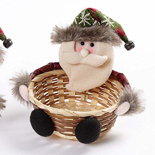 CLG-FLY Santa snowman candy cesto centri commerciali contatore cestello candy ornamento di Natale Santa ,pupazzo di neve,Regina