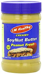 I.M. Healthy Soynut Butter, Original Creamy, 15-Ounce Plastic Jars (Pack of 6)