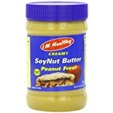 I.M. Healthy Soynut Butter, Original Creamy, 15-Ounce Plastic Jars (Pack of 6) ~ I'm Healthy