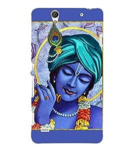 Lord Krishna 3D Hard Polycarbonate Designer Back Case Cover for Sony Xperia C4 Dual :: Sony Xperia C4 Dual E5333 E5343 E5363