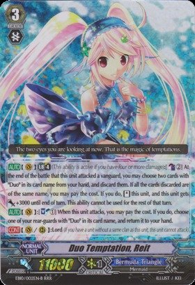 Cardfight!! Vanguard Tcg - Duo Temptation, Reit - Black (Eb10/002En) - Extra Booster Pack 10: Divas Duet front-498836
