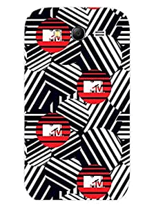 MTV Gone Case - Abstract Logo - Monochrome - Hard Back Case Cover for Samsung Grand 3 - Superior Matte Finish - HD Printed Cases and Covers