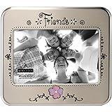 "Malden International Designs Serendipity Metals ""Friends"" Picture Frame, 4 by 6-Inch"