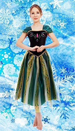 Donna, Regina Anna Frozen-Costume travestimento, motivo: Gown, XXXL(UK SIZE 18-20)
