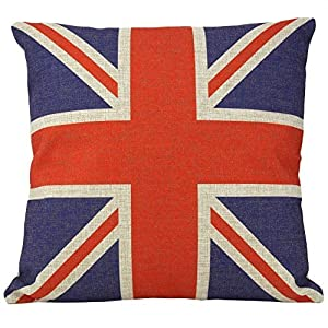 """Ycch Cotton Linen Square Decorative Throw Pillow Case Vintage Cushion Cover home 18X18 """" by HOTT"""