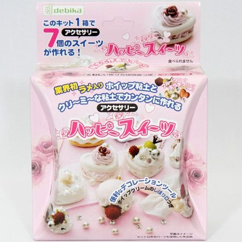 DIY clay pink cakes charm making kit Japan