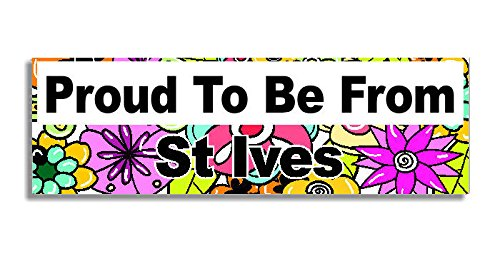 proud-to-be-from-st-ives-car-sticker-sign-voiture-autocollant-decal-bumper-sign-5-colours-flowers