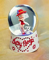 Betty Boop Musical Waterglobe with dog Pudge