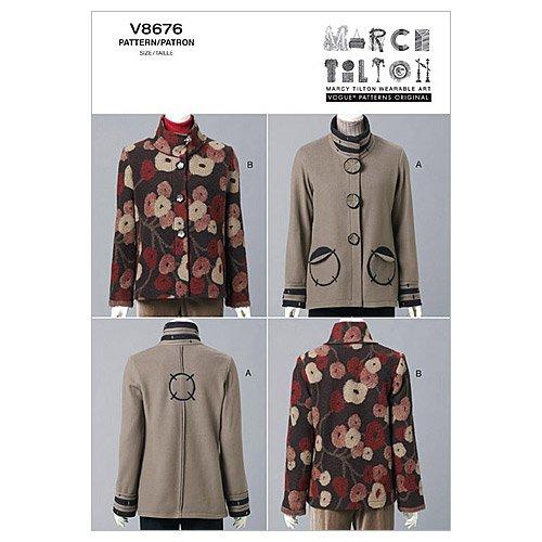 Vogue Patterns V8676 Misses' Jacket, Size EE (14-16-18-20)