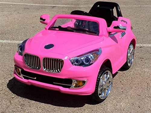 Pink Ride On Car Bmw Style Power Riding Toy Wheels Parental Radio Remote Control