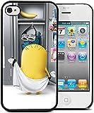 Coque silicone BUMPER souple IPHONE 4/4s - Sexy minion moche et mechant NU drole motif 1 DESIGN case+ Film de protection OFFERT
