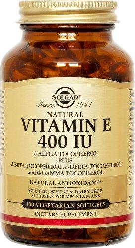 Solgar - Vitamin E, 400 Iu, 100 Veggie Caps