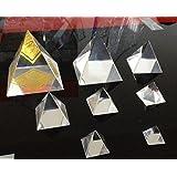 60mm Clear Crystal Pyramid, Crystal Paperweight, Wedding Decoration