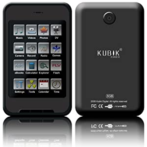 Kubik Edge II 8GB Touchscreen MP3 and Video Player