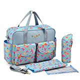 L.Sense Deluxe Multi-function Large Tote Baby Diaper Bag Set (Butterfly)