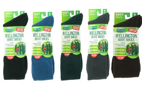 1 PAIR MENS WELLINGTON BOOT SOCKS MULTICOLOUR – 712