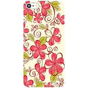 Printland Red Flowers Phone Cover For Apple iPhone 5C