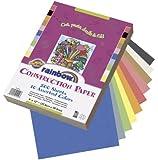 "Rainbow Construction Paper Assortment, 9""X12"", Assorted 10 Colors, 200 Sheets"