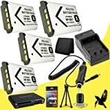 Four Halcyon 1800 mAH Lithium Ion Replacement NP-BX1 Battery and Charger Kit + Memory Card Wallet + Multi Card USB Reader + Deluxe Starter Kit for Sony HDR-AS100V POV Action Cam and Sony NP-BX1
