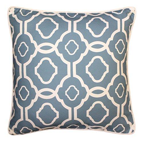 Kissenhülle, 43x 43cm Geometrisches Marokkanisches Kissen–Kissenbezug–Blaugrün / Blau