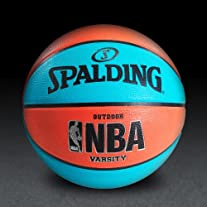 NBA Varsity Neon Basketball - Blue/Salmon