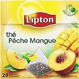 Lipton Thé parfumé peche mangue 20 sachets - Lot de 3