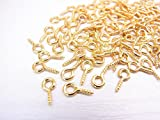 【jewel】ヒートン 8mm ゴールド 約100個 材料 手芸 ハンドメイド アクセサリーパーツ 素材 ネジ クラフト 金具 レジン 封入