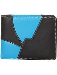 Farsana Blue And Black Men's Single Fold Wallet (FS-020)