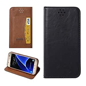 Crazy4Gadget For Samsung Galaxy S7/G930 Magnetic Crazy Horse Texture Horizontal Flip Leather Case with Holder & Card Slots (Black)