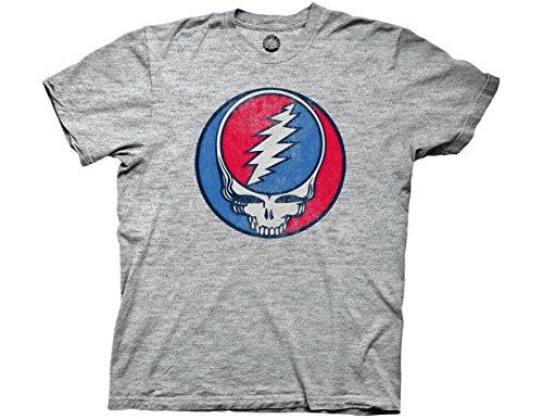 Ripple Junction Grateful Dead Steal Your Face Vintage Adult T-Shirt Large Tri Blend Heather (Greatful Dead Bear)