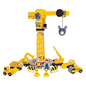 Bigjigs Rail Coffret de construction grande grue