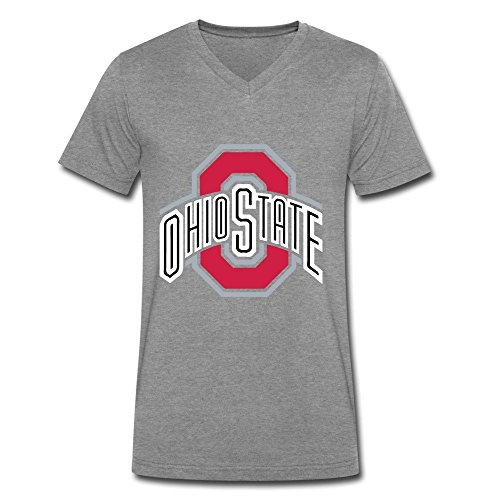 FULEN Men's Ohio State Buckeyes V-Neck T-shirts L DeepHeather (Ice Be Gone Magic compare prices)