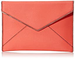 Rebecca Minkoff Leo Clutch, Bright Coral, One Size