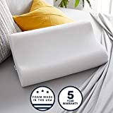 Sleep Innovations Contour Memory Foam Standard Size Pillow, Cervical Support Pillow for Sleeping, Made in the USA with 5 Year Warranty