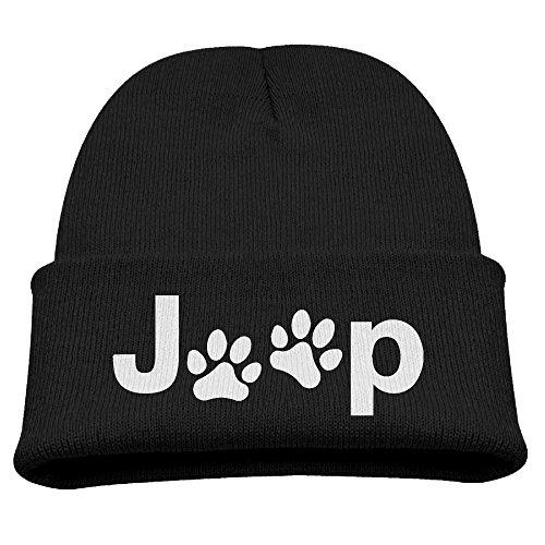 Kid's Jeep Beanie Cap with Dog Paw Logo
