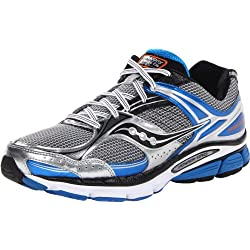 Saucony Men's Stabil CS3 Running Shoe,Silver/Blue/Black,8 M US