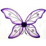 Large Green Wild Fairy Wings (34 in) (Purple)