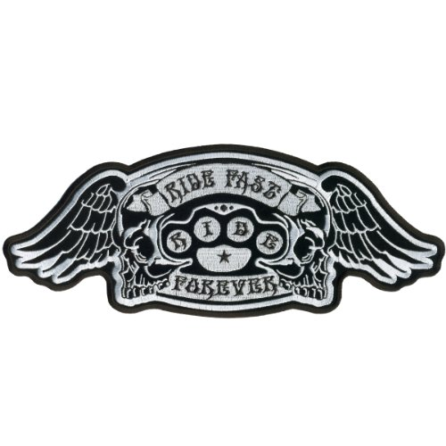 Hot Leathers Ride Fast Brass Knuckles Patch (5