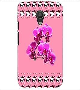 PrintDhaba Flowers D-3883 Back Case Cover for MOTOROLA MOTO G2 (Multi-Coloured)