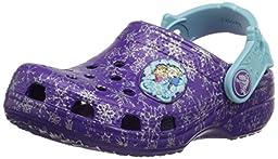 crocs Classic Frozen Clog (Toddler/Little Kid), Neon Purple, 1 M US Little Kid