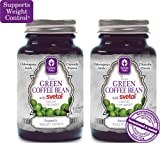 NEW!!! 100% Pure Green Coffee Bean Extract with SVETOL - 2 Bottles of 60 Vegetarian Capsules Each